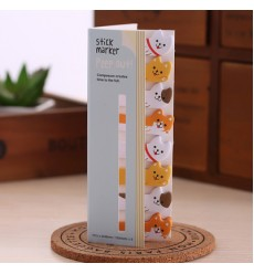 HEDAO - Lot Cartoon Animals Sticky Note Post It Stick & Memo Paper Bookmark Stationery