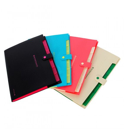 ASDA - 1 Pcs Waterproof Book A4 Paper File Folder Document Rectangle Office Color Random