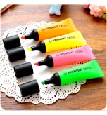 STABILO - 4 Pcs Neon Highlighter Pen Marker Office School Supplies