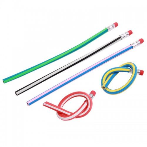 Deli 5 Pcs Colorful Magic Bendy Flexible Soft Pencil