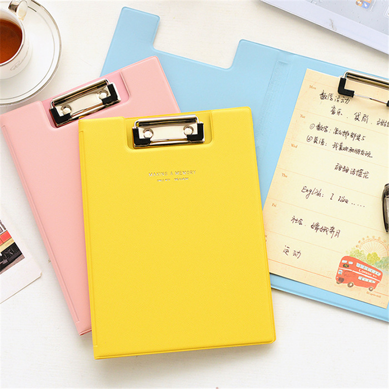 File Clip Board Writing Pad Office Supply Blue