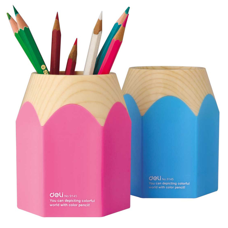 Oem Pencil Sharp Pen Holder Desk Organizer Storage Office Accessories Pink